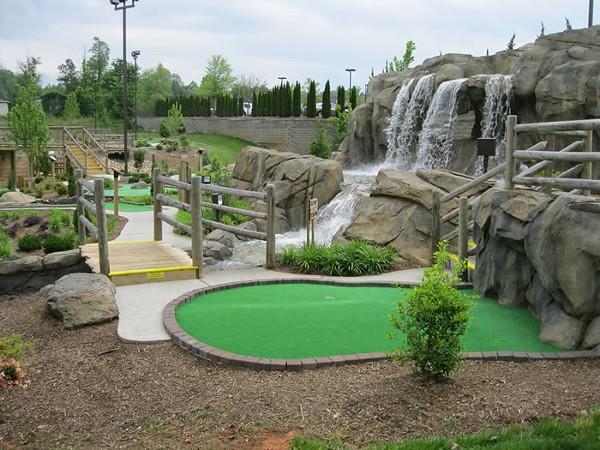 Don't Go Chasing Waterfalls: LKN Mini Golf at Lake Norman. (Photo courtesy of LKN)