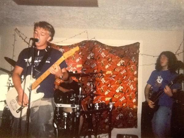 Howie and fellow Sugar Glyder founder Rigo in their garage years.