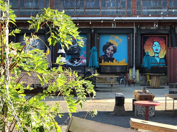 Camp North End art. (Photo by Mark Kemp)