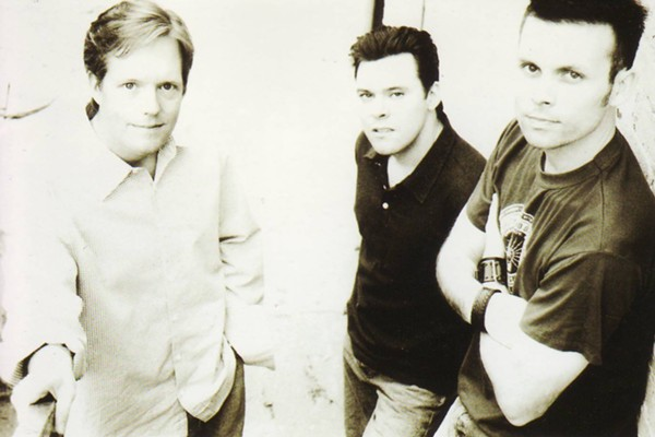 Lawson (left) with the Chad Lawson Trio (publicity photo)