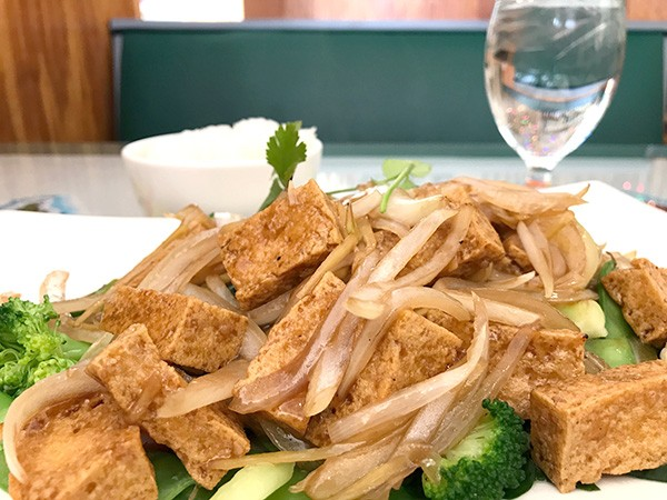 Lang Van's ginger tofu will fill you up but it won't weigh you down.