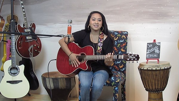 Singer-songwriter Sky Noblezada did her Tiny Stage Concert in July of 2017.