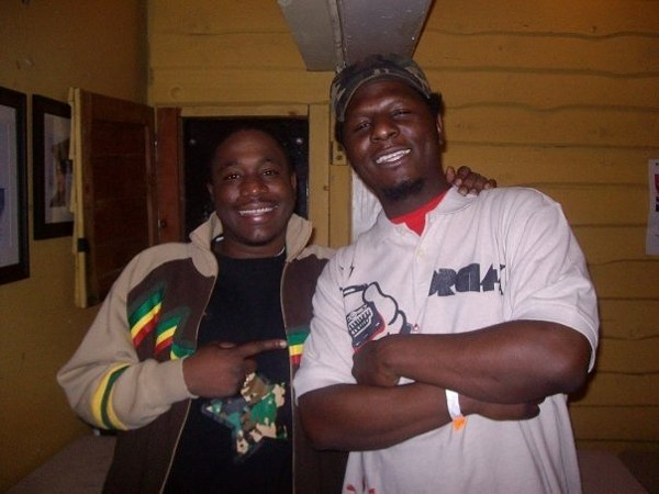 Ndelo (right) at a Nappy Luv event in 2009.