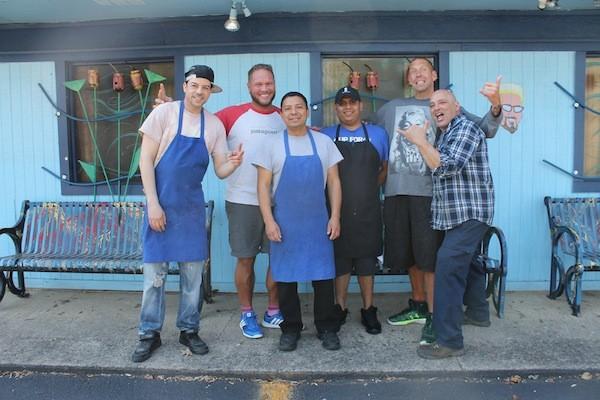 The Krew: [from left] Dave Marrero, Jason Kesler, Ceaser Hernandez, Eduardo Jijon, John York and Giorgio Prisco.