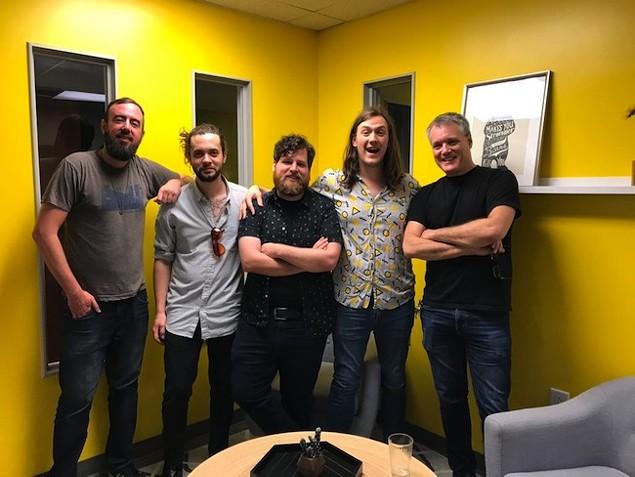 The crew (from left): Ryan Pitkin, Zach Jordan, John Harrell, Dylan Gilbert and Mark Kemp.
