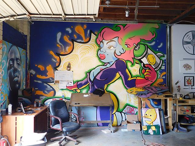 An Arko mural in the STC studio. (Photo by Dana Vindigni)