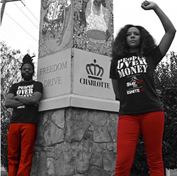 Bree Newsome (right) with Black Linen (Photo courtesy of Black Linen)