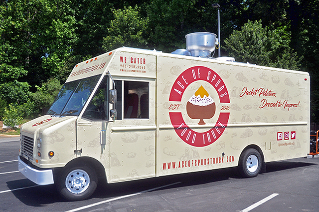 The Ace of Spuds truck hits the streets on Friday, July 6. (Photos courtesy of Saloan Rochelle)