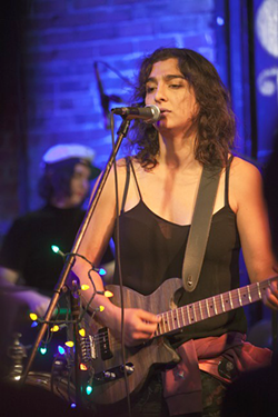 Lara Americo at the Evening Muse. (Photo by Jeff Hahne)