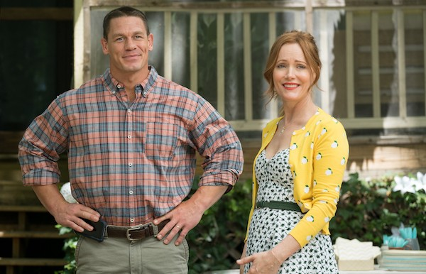 Jon Cena and Leslie Mann in Blockers (Photo: Universal)