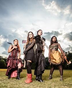"""Lizzie cast members (from left): Rachel """"Shea"""" Shipley, Katy Shepherd, Kristin Jann-Fischer and CiCi Kromah."""