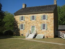 The Hezekiah Alexander house at the Charlotte Museum of History.