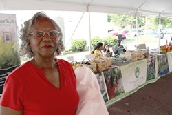 Vivian Stuart at a recent Rosa Parks Famrers Market. (Photo by Ryan Pitkin)
