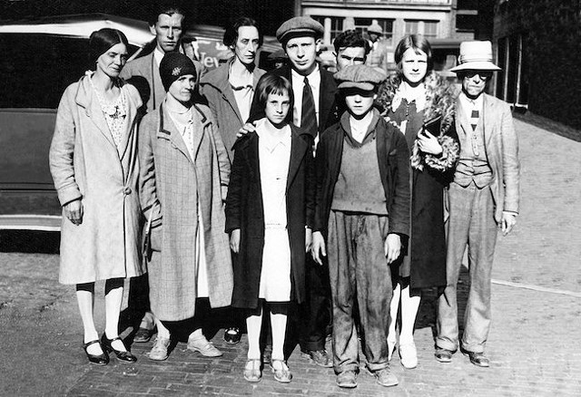 Ella May Wiggins, the second woman from the left, was shot and killed on her way to a protest in 1929. (Photo Courtesy of Millican Pictorial History Museum)