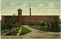 The Gastonia Loray Cotton Mill hosted about 57,000 spindles. (Photo Courtesy of North Carolina Postcard Collection at UNC Chapel Hill