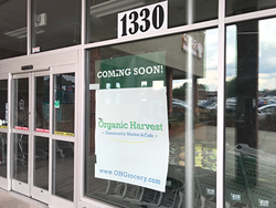 Organic Harvest Community Grocery and Caf&eacute will open its doors soon in Plaza Midwood. (Photo by Pat Moran)