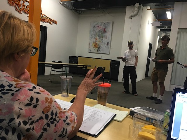 Anne Lambert gives direction during a recent rehearsal.