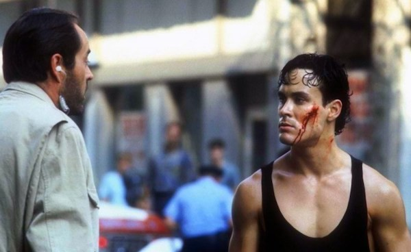 Powers Boothe and Brandon Lee in Rapid Fire (Photo: Twilight Time)