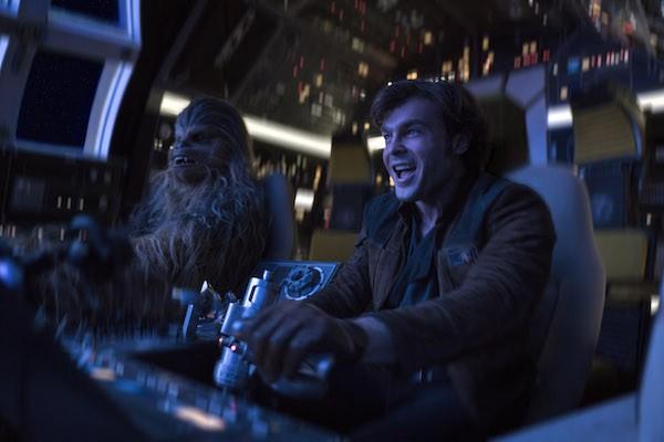 Joonas Suotamo and Alden Ehrenreich in Solo: A Star Wars Story (Photo: Disney)