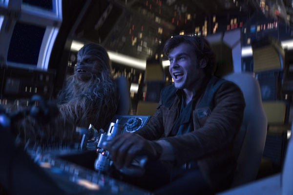 Joonas Suotamo and Alden Ehrenreich in Solo: A Star Wars Story (Photo: Disney)