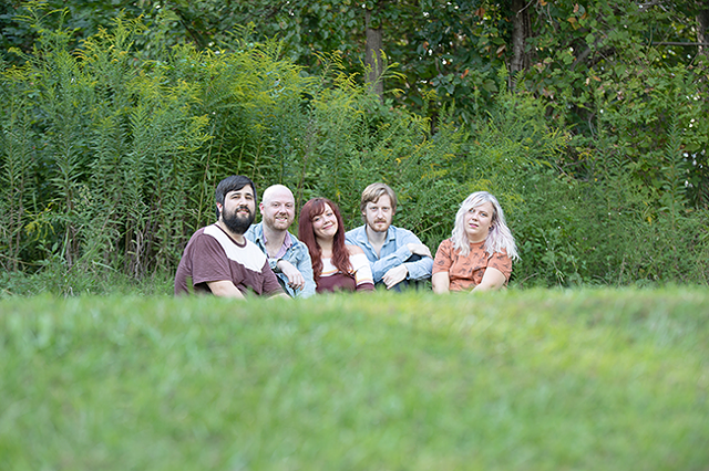 (From left to right) Phil Pucci, Alex Smith, Brooke Weeks, Nick Holman and Caiti Mason of Pullover. (Photo Courtesy of Brian Twitty Photography)