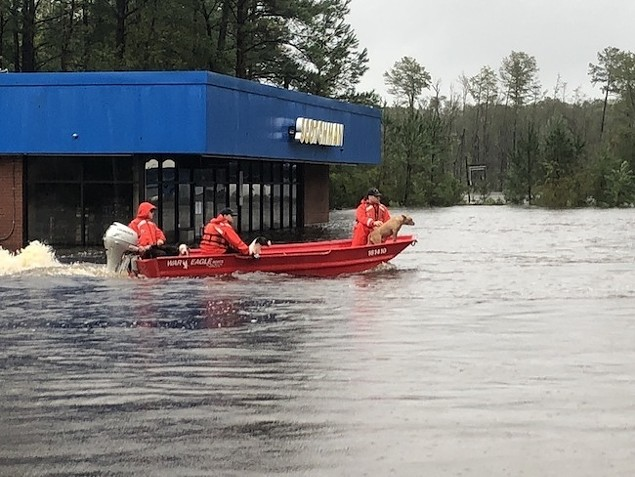 Rescue efforts in Delco. (Photo by Stephen Kelly/USCG)