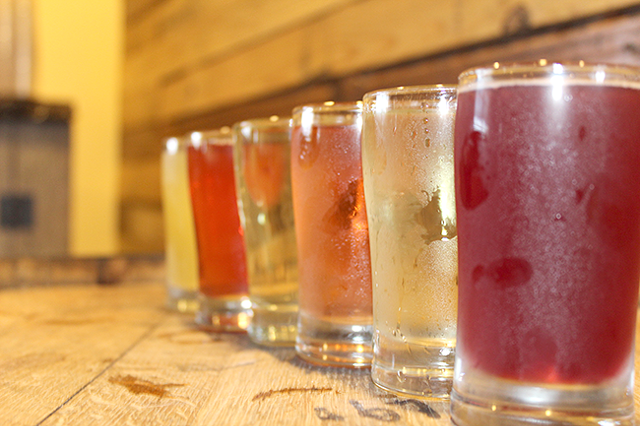A beautiful array of ciders from Red Clay Ciderworks.