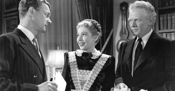 Joseph Cotten, Loretta Young and Charles Bickford in The Farmer's Daughter (Photo: Kino)
