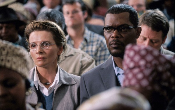 Juliette Binoche and Samuel L. Jackson in In My Country (Photo: Twilight Time)