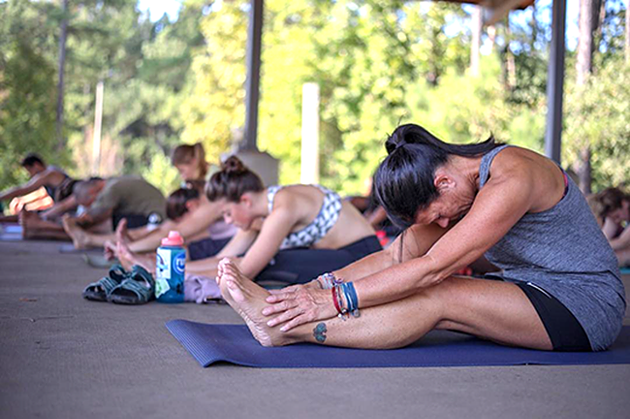 Yoga at the Whitewater Center. (Photo Courtesy of USNWC)