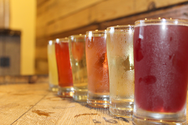 A selection of ciders at Red Clay Ciderworks. (Photo by Dana Vindigni-Guedes)