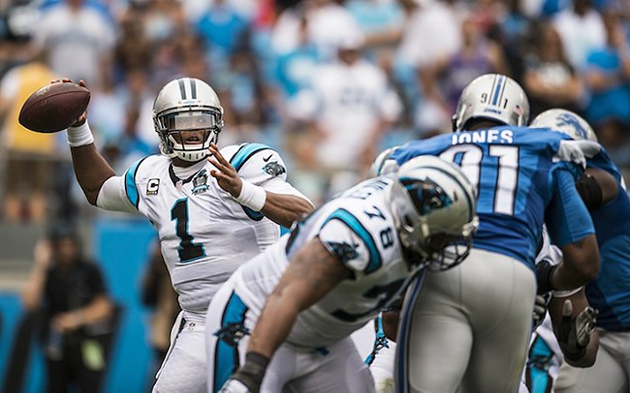 Cam Newton is already off to a strong start with the Panthers this year. (Photo by Melissa Melvin-Rodriguez)