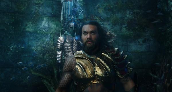 Jason Momoa in Aquaman - WARNER BROS.