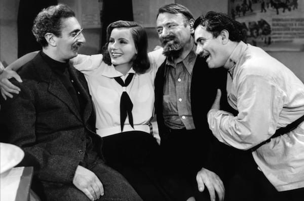 Felix Bressart, Greta Garbo, Sig Rumann and Alexander Granach in Ninotchka (Photo: Warner Bros.)