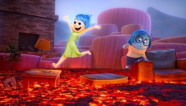 Joy (Amy Poehler) and Sadness (Phyllis Smith) in Inside Out (Photo: Disney & Pixar)