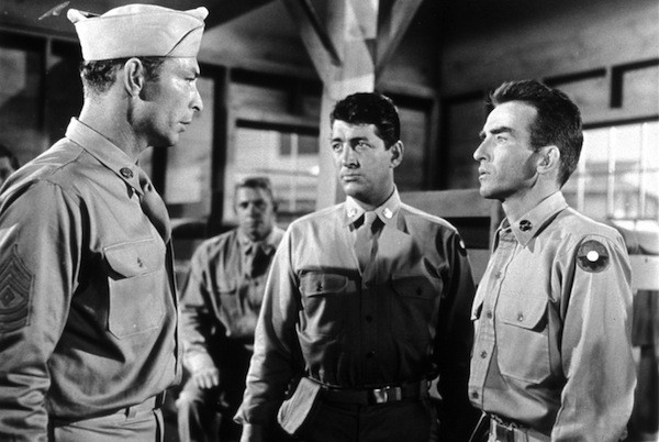 Lee Van Cleef, Dean Martin and Montgomery Clift in The Young Lions (Photo: Twilight Time)