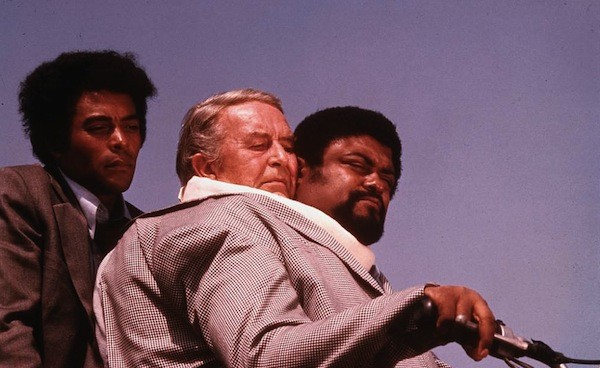 """Don Marshall, Ray Milland and """"Rosey"""" Grier in The Thing with Two Heads (Photo: Olive Films)"""