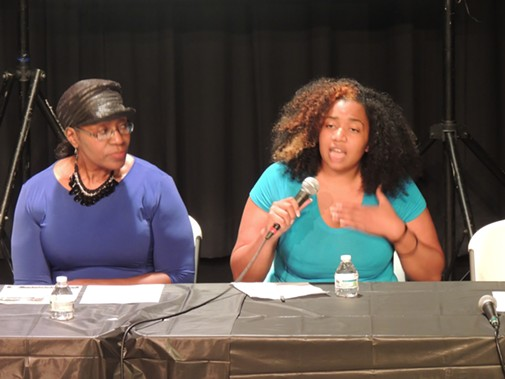 Marcelle Vielot (right) and Corine Mack