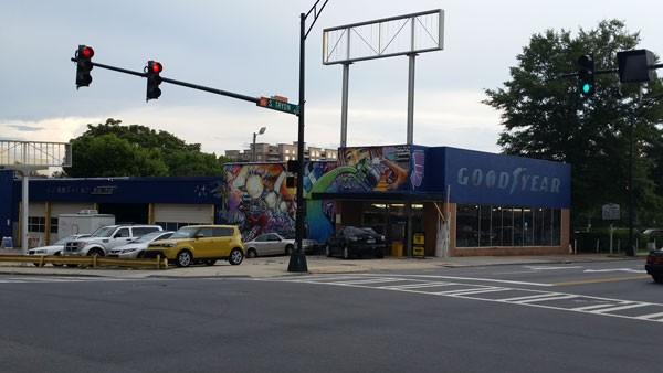 Defunct Goodyear space turned art studio.