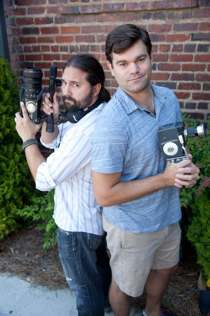 Filmmakers Chris Baker and Chuck Kleven. (Photo by Jeff Hahne)