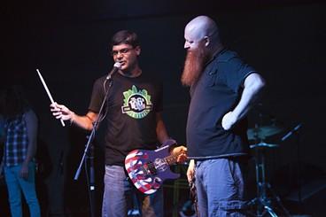 Divakar (left) with Chop Shop owner Jay Tilyard.