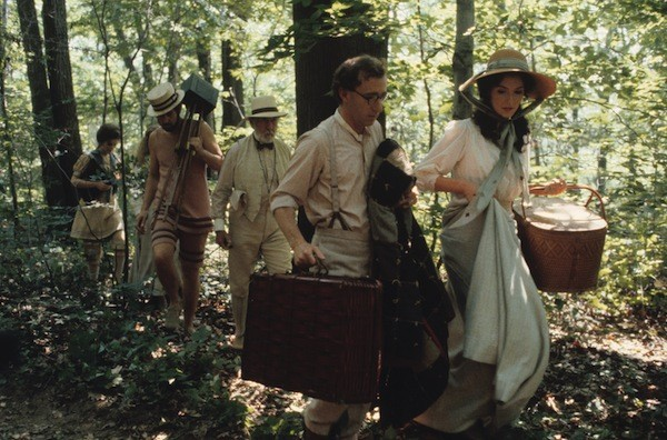 Julie Hagerty, Mia Farrow (mostly hidden), Tony Roberts, Jose Ferrer, Woody Allen and Mary Steenburgen in A Midsummer Night's Sex Comedy (Photo: Twilight Time)