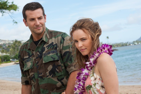 Bradley Cooper and Rachel McAdams in Aloha (Photo: Columbia)