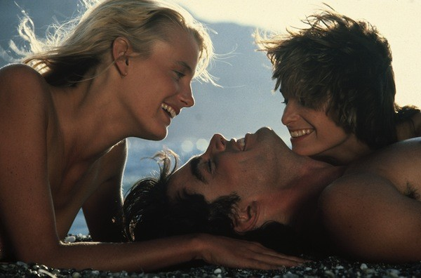 Daryl Hannah, Peter Gallagher and Valerie Quennessen in Summer Lovers (Photo: Twilight Time)