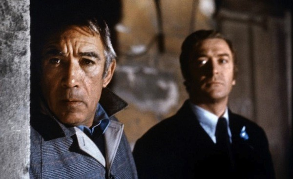 Anthony Quinn and Michael Caine in The Destructors (Photo: Kino)