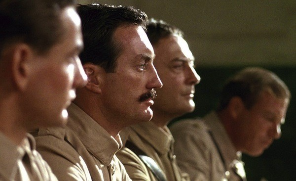 Lewis Fitz-Gerald, Bryan Brown, Edward Woodward and Jack Thompson in Breaker Morant (Photo: Criterion)