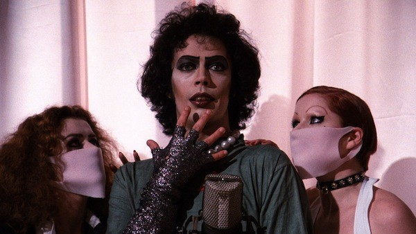 Patricia Quinn, Tim Curry and Little Nell in The Rocky Horror Picture Show (Photo: Fox)