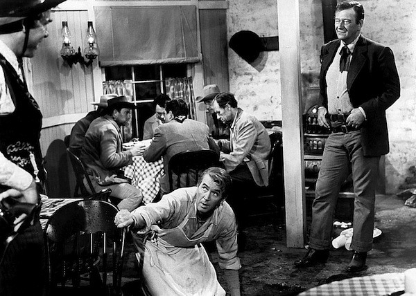 Lee Marvin (far left), James Stewart and John Wayne in The Man Who Shot Liberty Valance (Photo: Warner & Paramount)