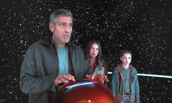George Clooney, Britt Robertson and Raffey Cassidy in Tomorrowland (Photo: Disney)