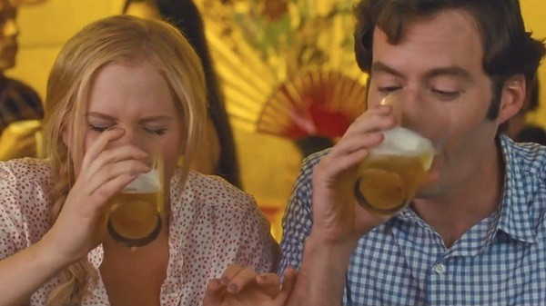 Amy Schumer and Bill Hader in Trainwreck (Photo: Universal)